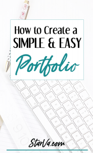 how to create a simple and easy portfolio
