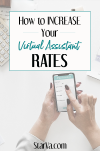 How to increase your rates as a virtual assistant